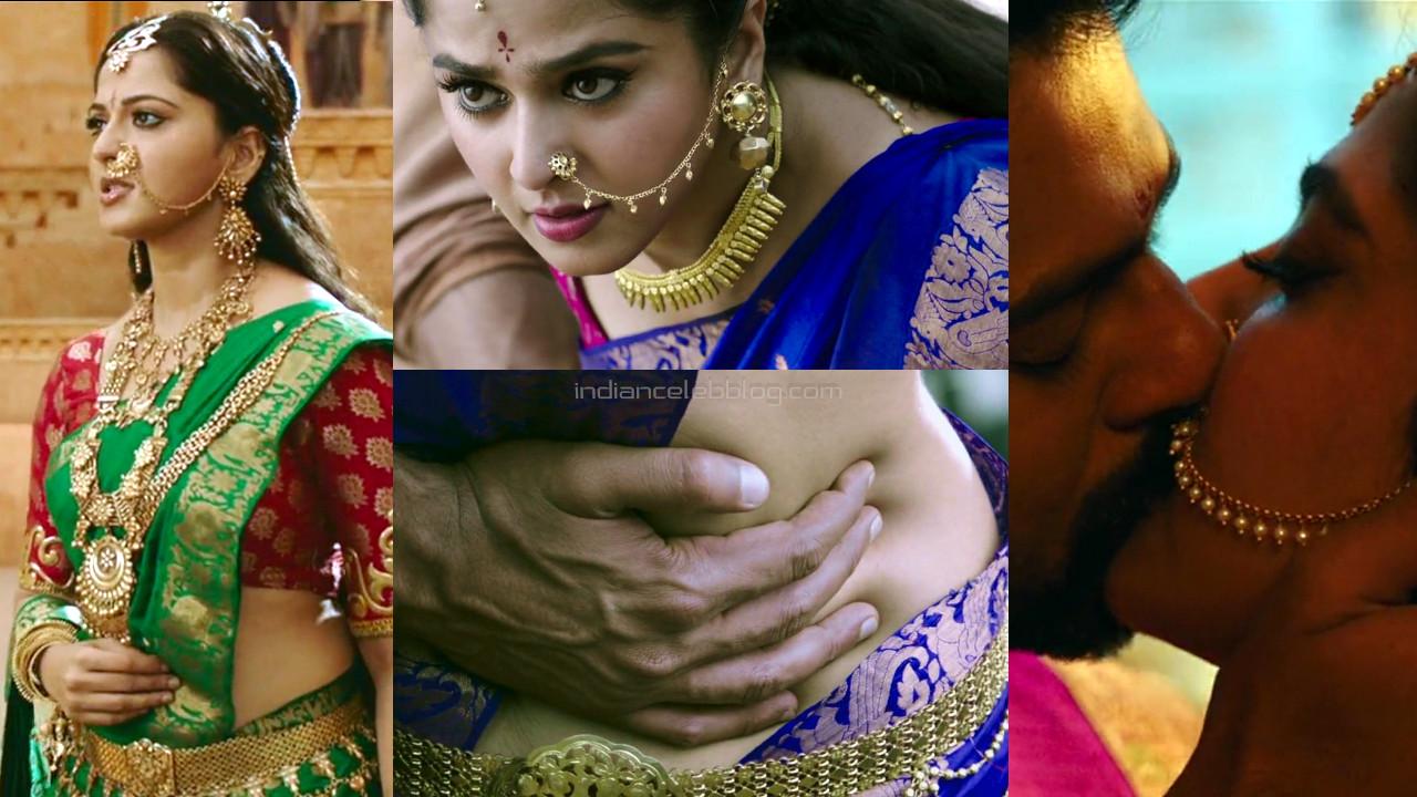 Anushka shetty hot sari pics Baahubali hd caps