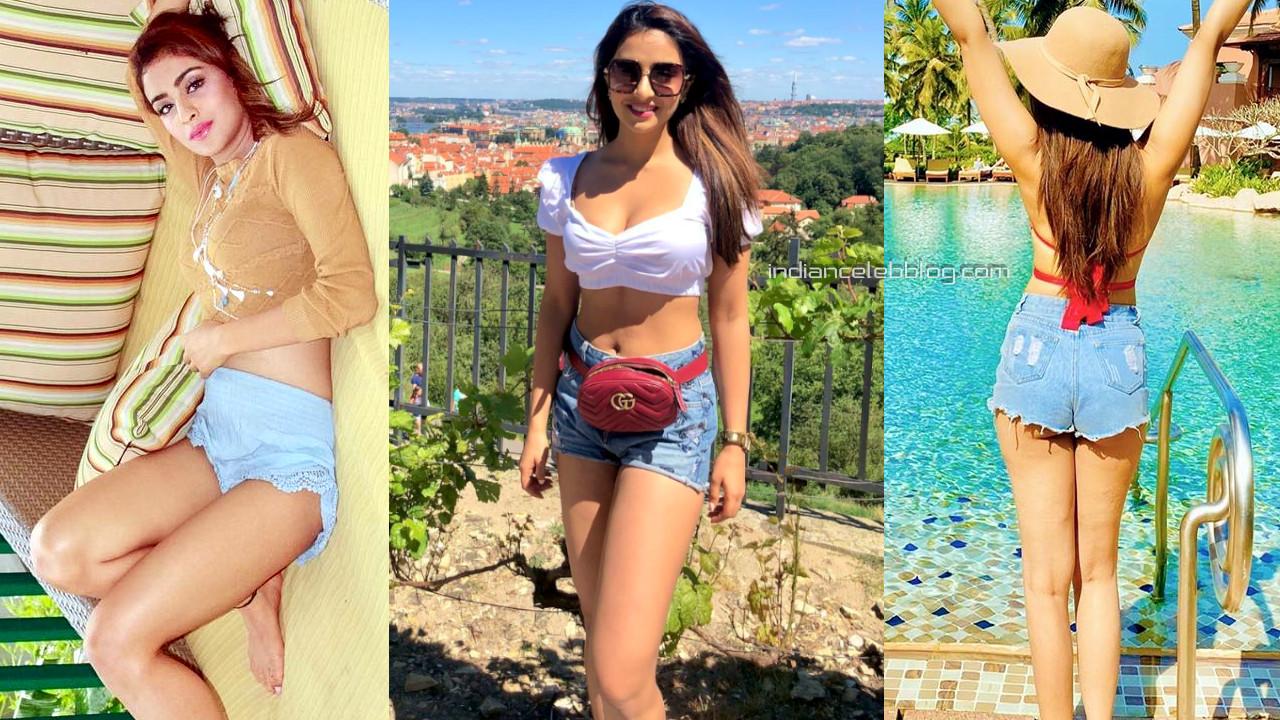 Muskan sethi hot legs show social media photos