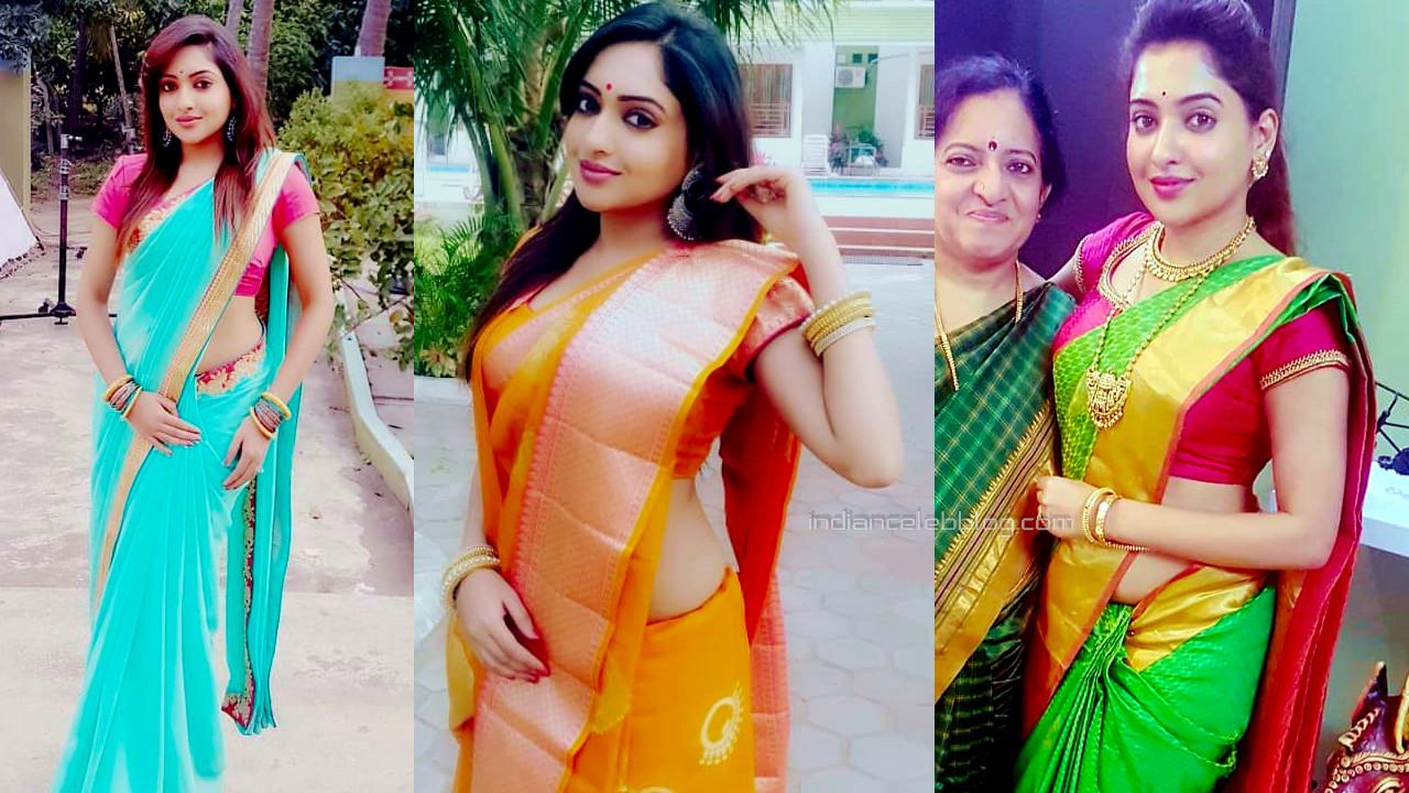 Sukruta deshpande kannada actress hot saree Social media photos