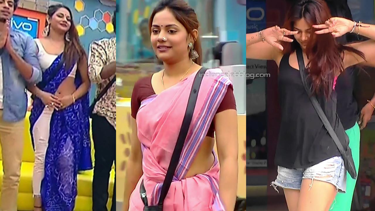 Aishwarya dutta hot saree caps bigg boss tamil 2