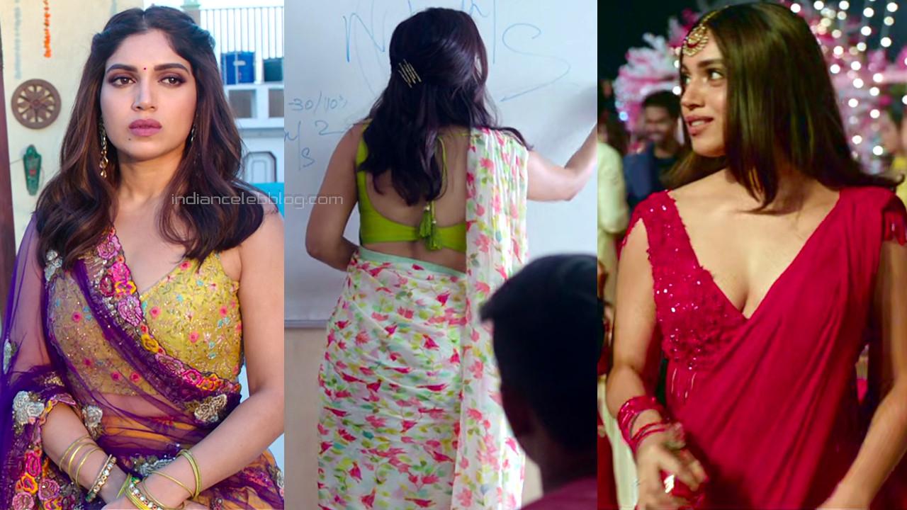 Bhumi pednekar hot backless saree bollywood hd caps