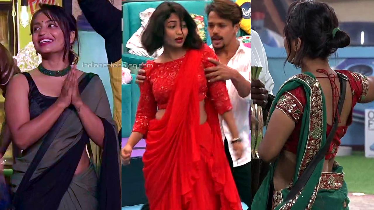 Alekhya harika hot saree pics bigg boss telugu 4 hd caps