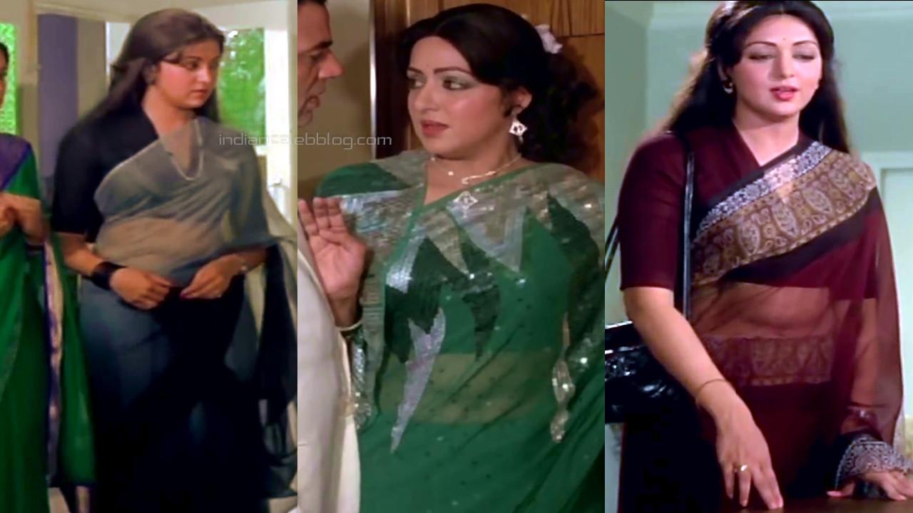 Hema malini old hindi film actress hot sari photos