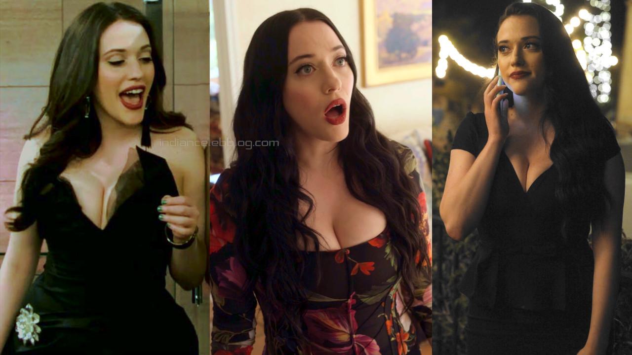 Kat dennings 2 broke girls actress hot cleavage show pics