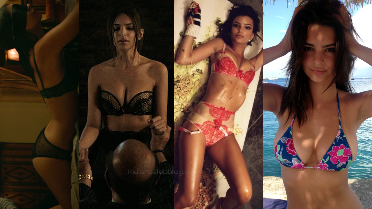 Emily ratajkowski international model hot bikini photos screencaps