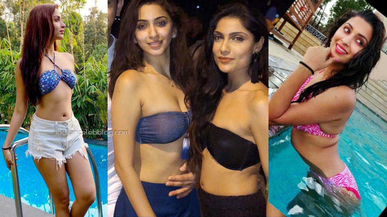 Eshanya maheshwari hot swimsuit bikini beach photos