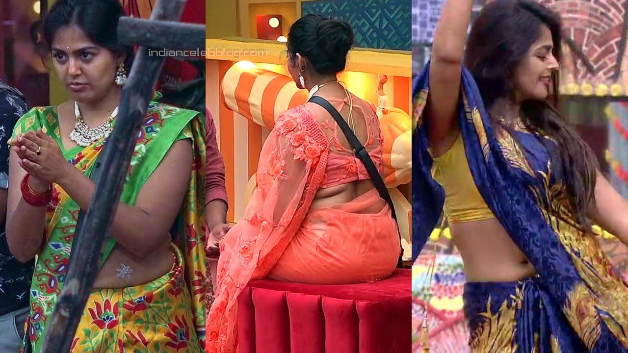 Monal gajjar hot saree pics bigg boss telugu 4 hd captures