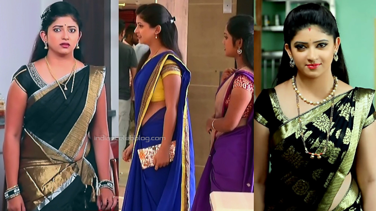 Pallavi gowda kannada tv serial actress hot saree pics caps.