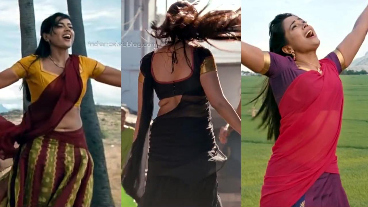Sameera reddy kollywood sexy blouse back show in half saree.