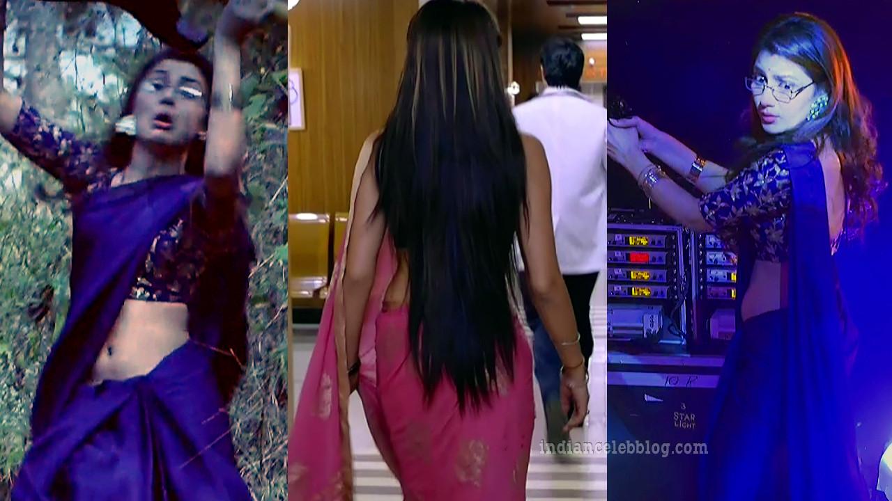 Sriti jha indian tv celeb sleeveless choli saree pics