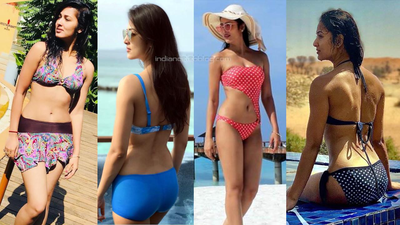 Vidisha srivastava telugu actress hot swimsuit bikini photos