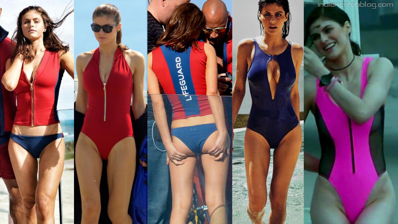 Alexandra daddario baywatch actress hot swimsuit bikini photos