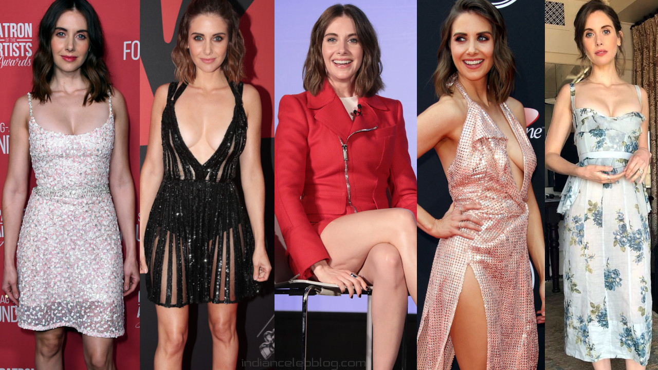 Alison brie hollywood actress hot cleavage red carpet photos
