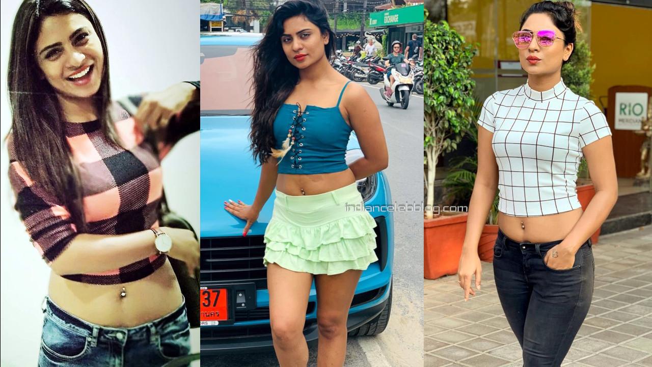 Deepika das kannada actress pierced navel social media hot pics