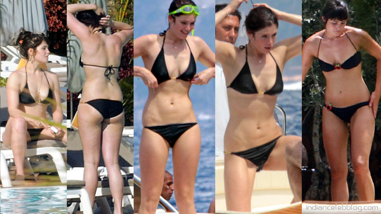 Gemma arterton bikini beach italy vacation paparazzi photos