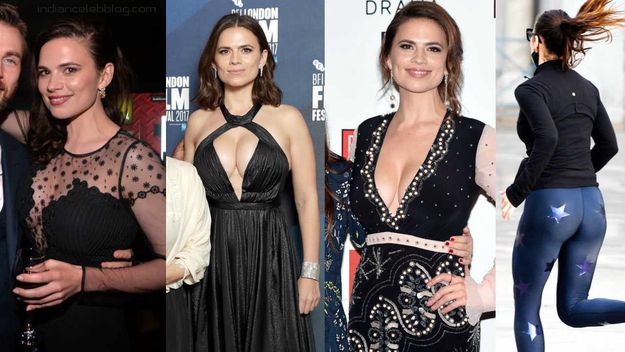 Hayley atwell avengers actress hot cleavage red carpet photos