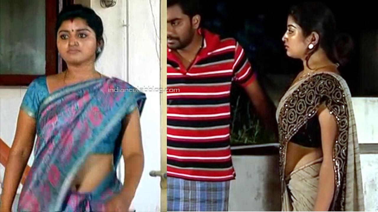 Mahalakshmi tamil tv serial actress hot saree navel show Video edit