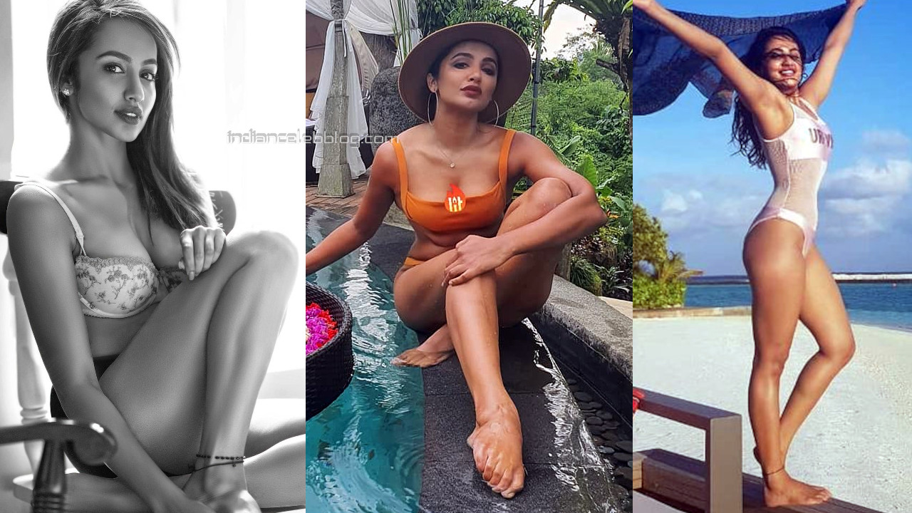 Tejaswi madivada tollywood shared her hot Swimsuit pics on Web