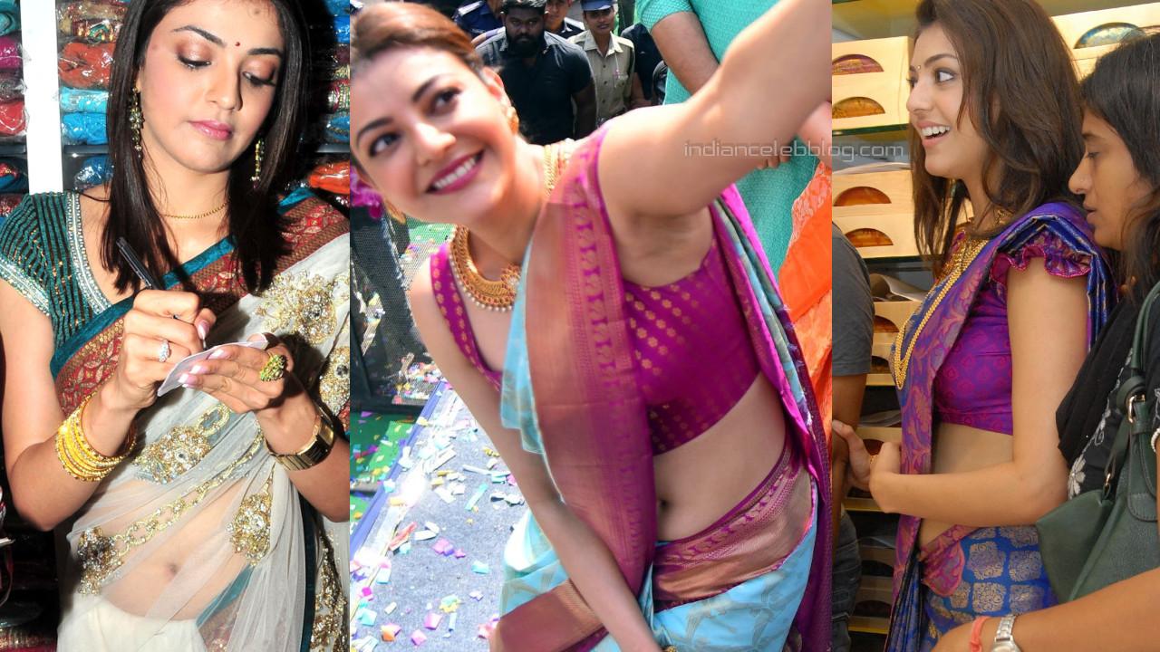Kajal agarwal tollywood actress hot photos in silk saree event pics