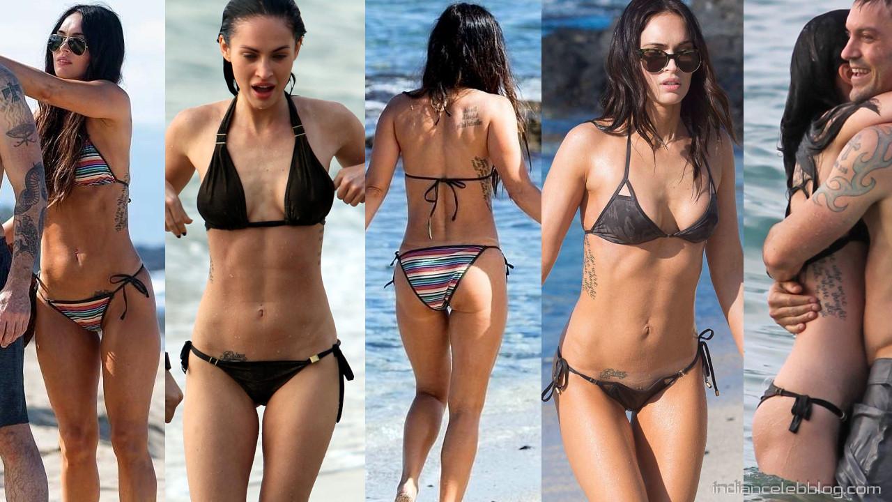 Megan fox actress hot photos bikini candids from hawaii beach