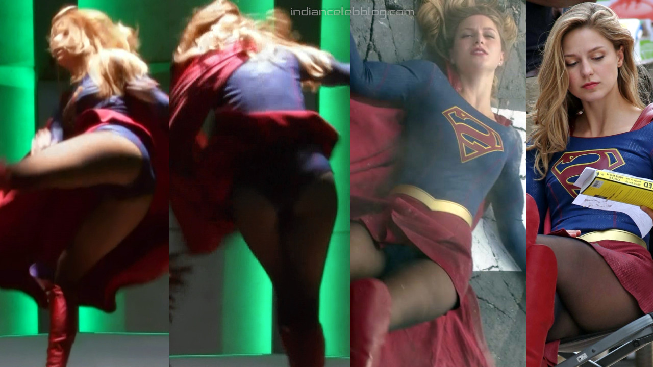 Melissa benoist Surpergirl actress on set hot upskirt photos
