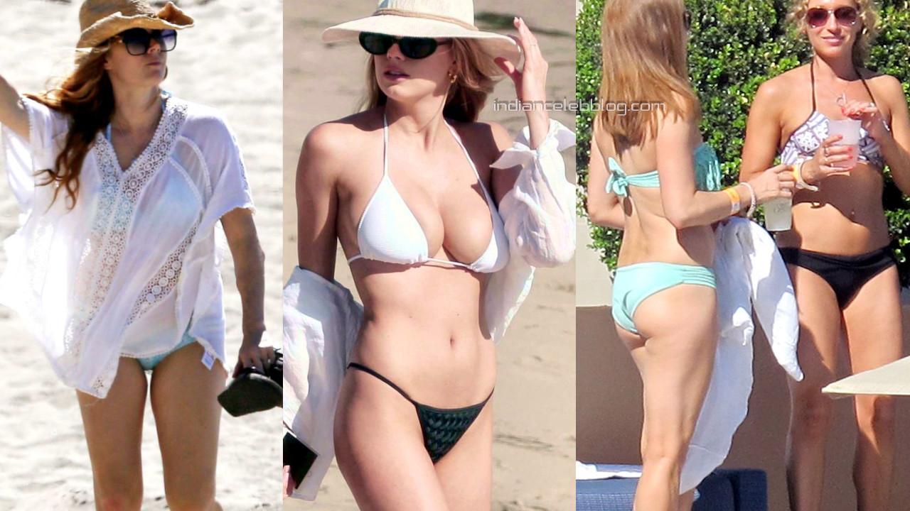 Amy adams hollywood actress hot bikini beach candid photos.