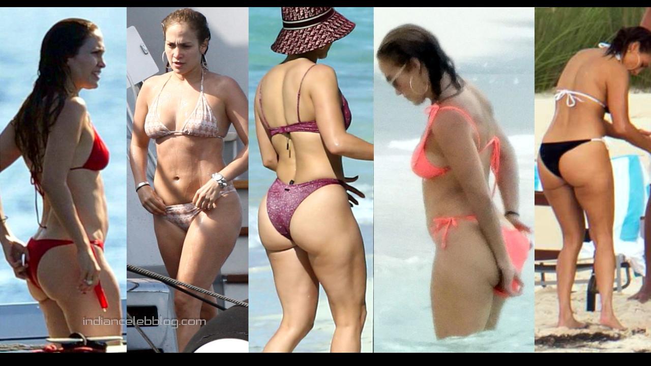 Jennifer lopez hot bikini butts beach candid paparazzi photos