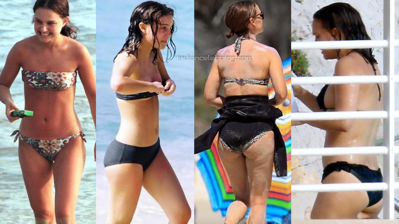 Natalie portman hot bikini candids beach paparazzi photos