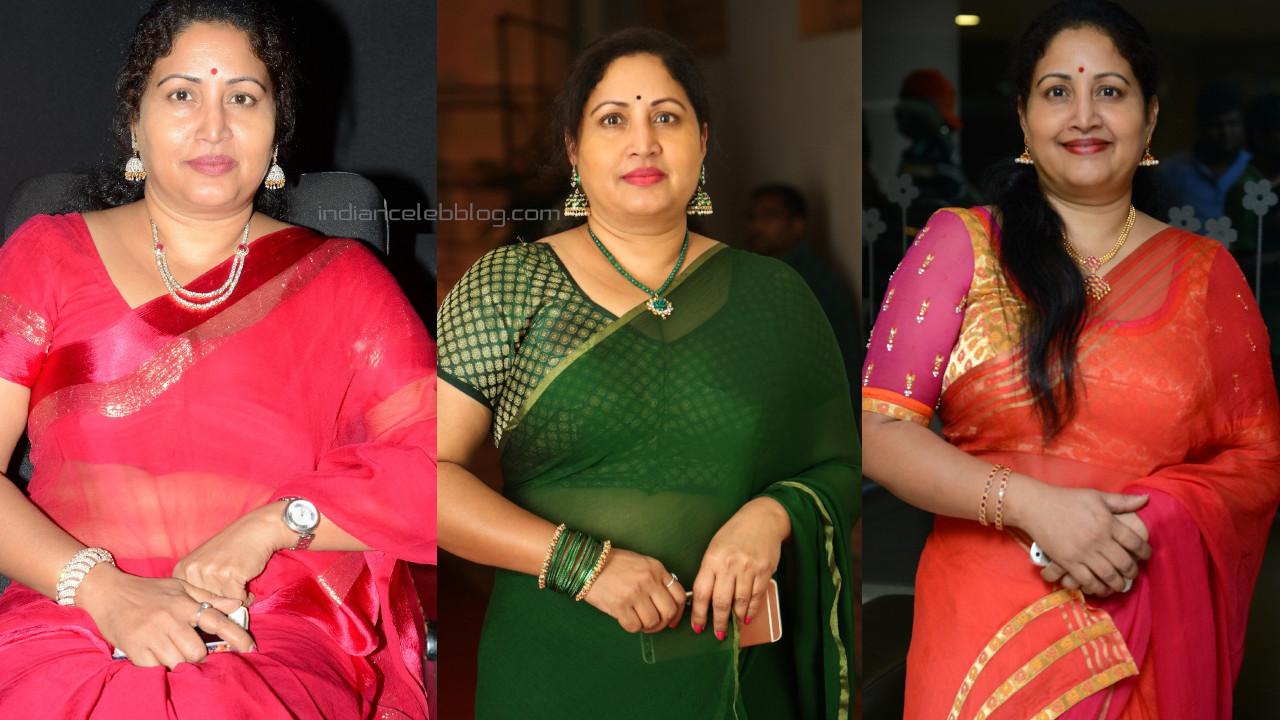 Rajitha telugu character actress in saree photo gallery