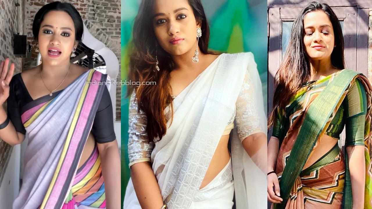 Kaavya arivumani tamil tv serial actress hot saree social media pics