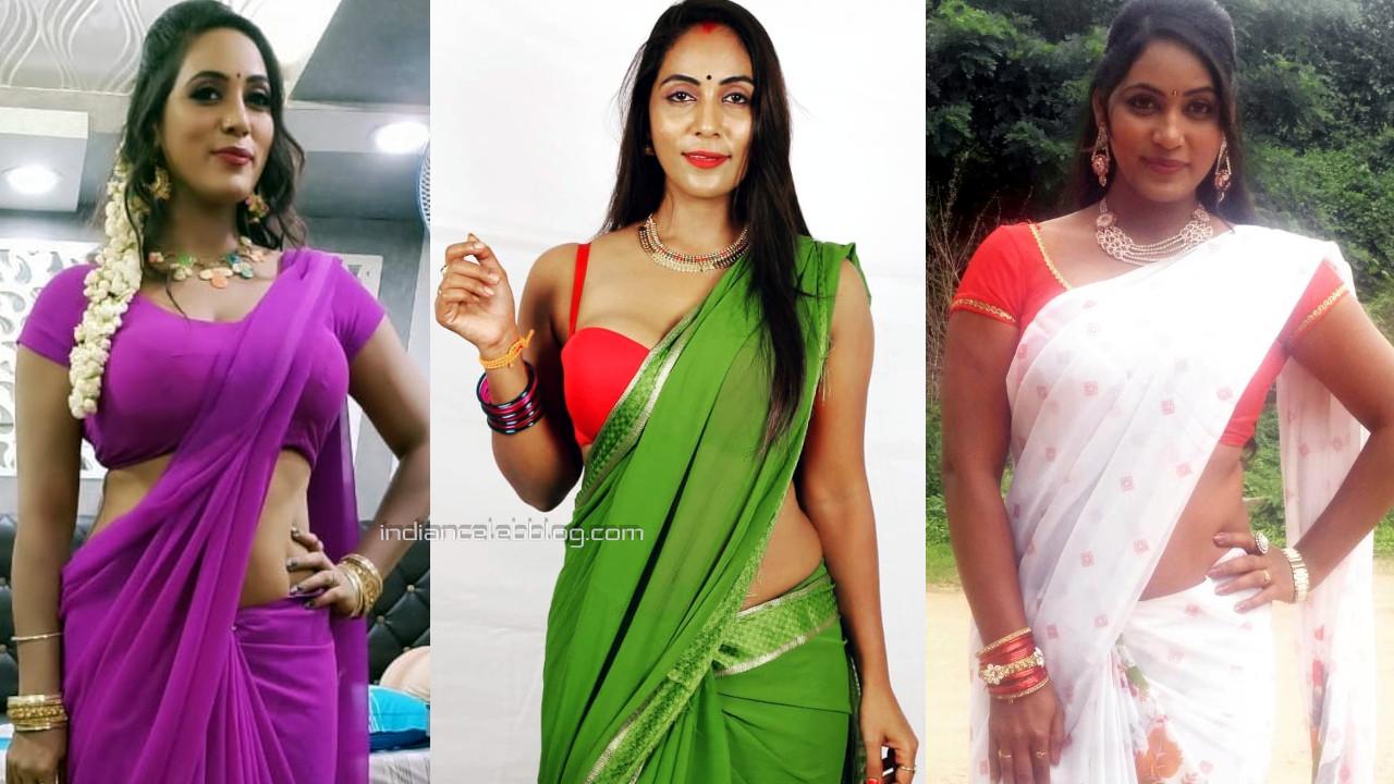 Meghana chowdary telugu actress hot saree social media photos stills