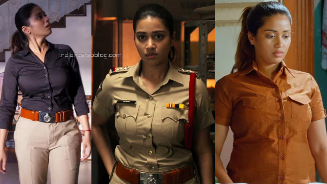 Nivetha pethuraj tollywood actress hot pics in police uniform