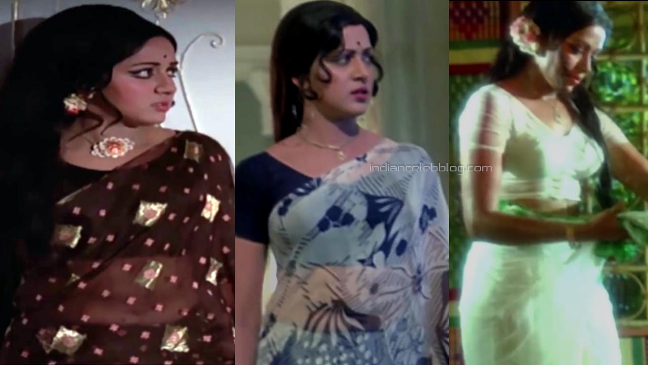 Hema malini hindi yestereyear actress photos in saree caps.