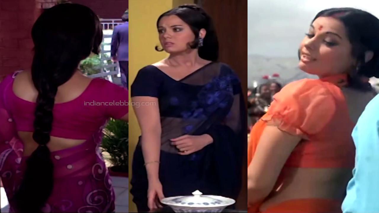Mumtaz bollywood yesteryear actress hot saree pics hd caps
