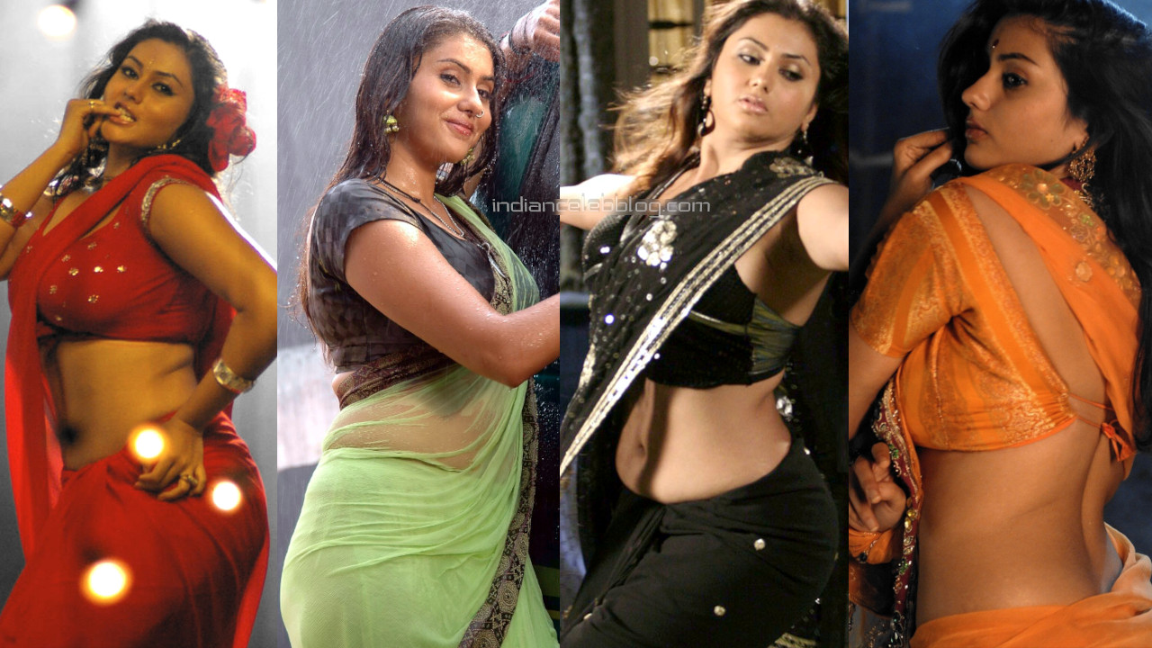 Namitha tamil film actress sleeveless blouse saree stills photos
