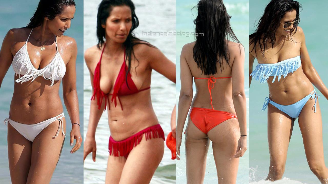 Padma lakshmi hot bikini beach candids paparazzi photos