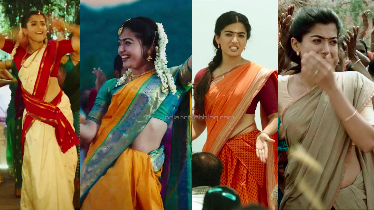 Rashmika mandanna kollywood movie hot saree pics hd caps