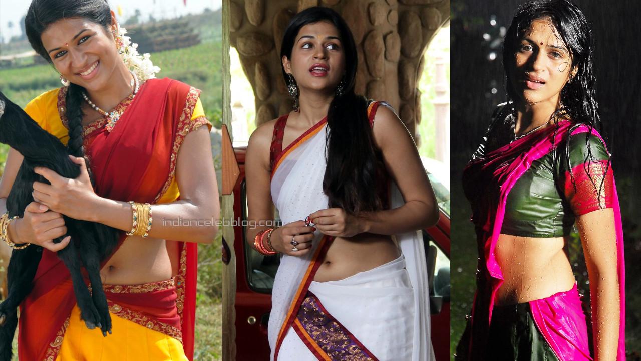 Shraddha das telugu actress hot saree navel show pics