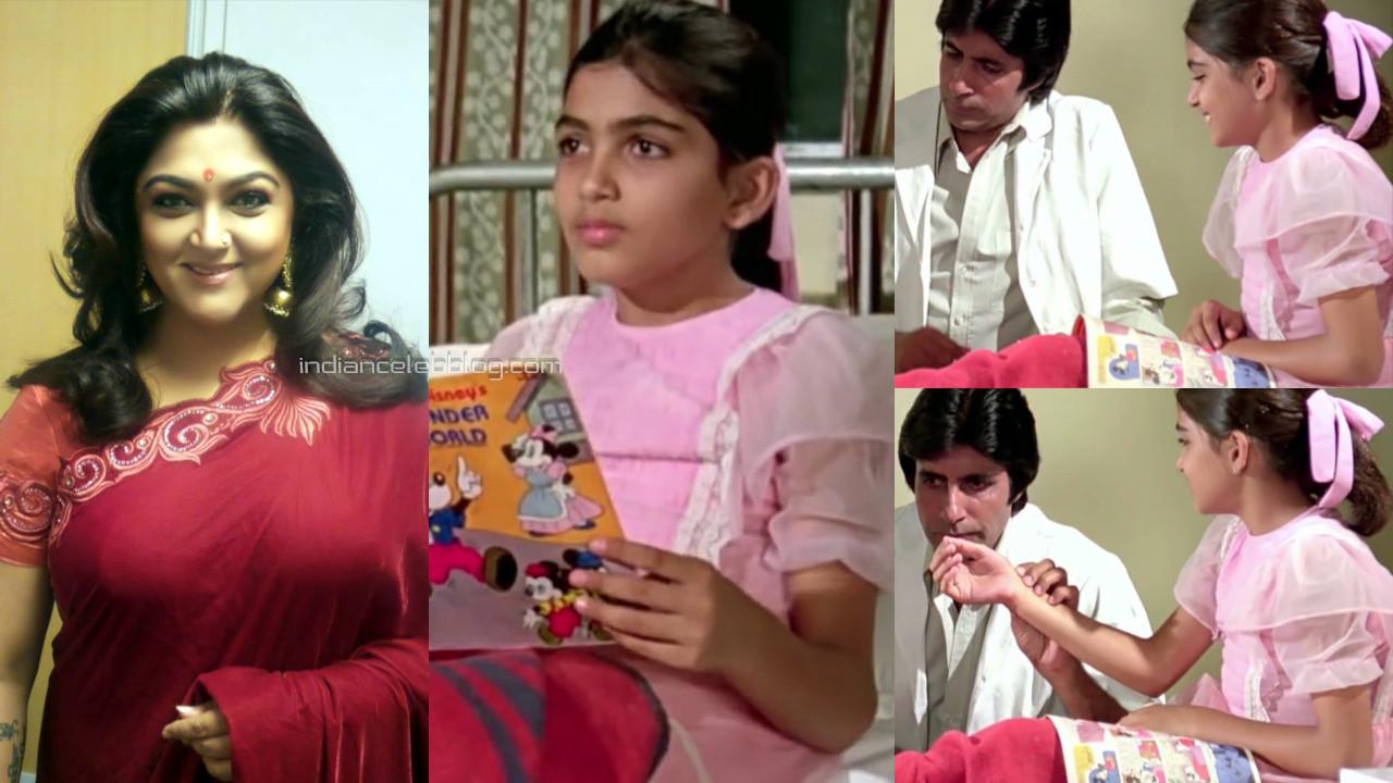 Kushboo rare as child artist amitabh bachchan bollywood movie
