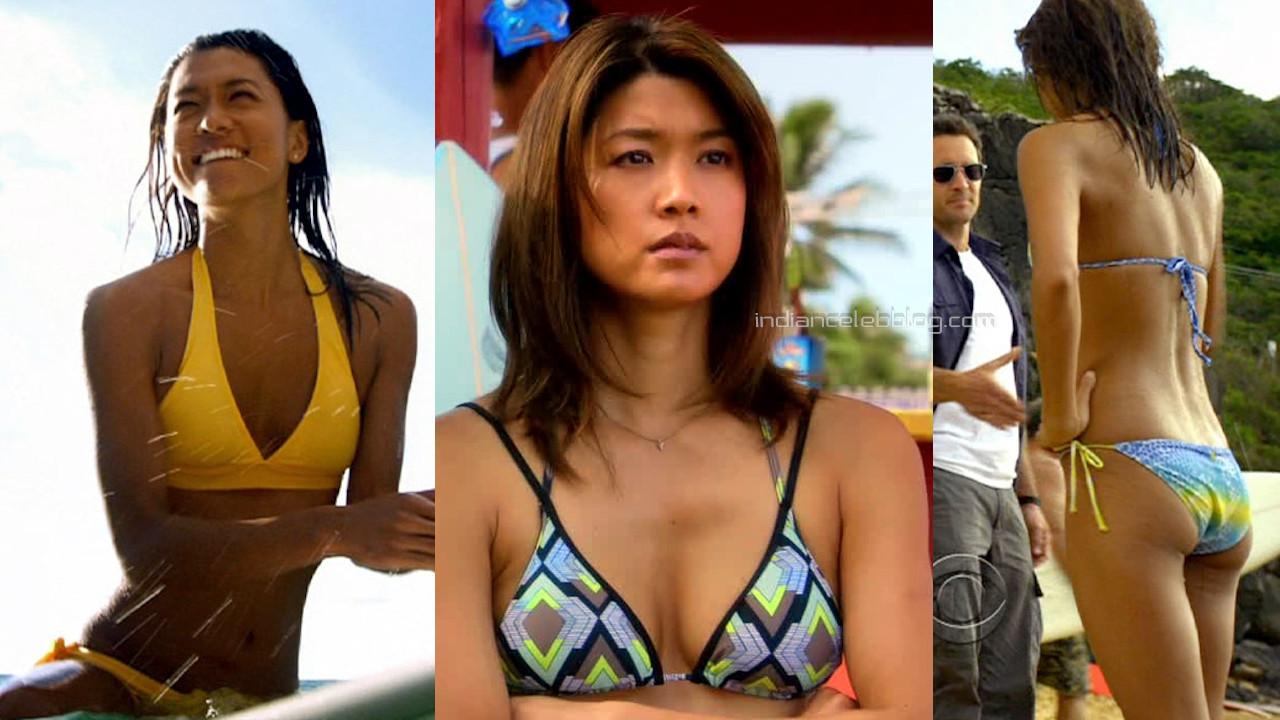 Grace park hawaii five o series actress hot bikini photos screencaps