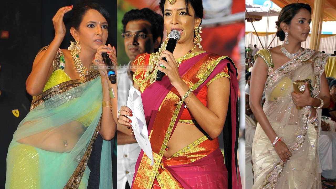 Lakshmi manchu telugu event sexy saree pierced navel photos