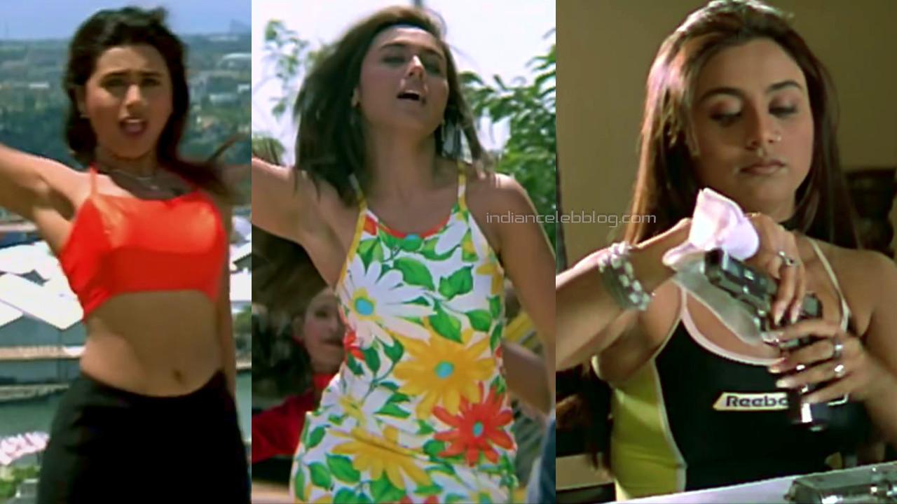 Rani mukerji bollywood movie sexy ampits pics caps from bichhoo