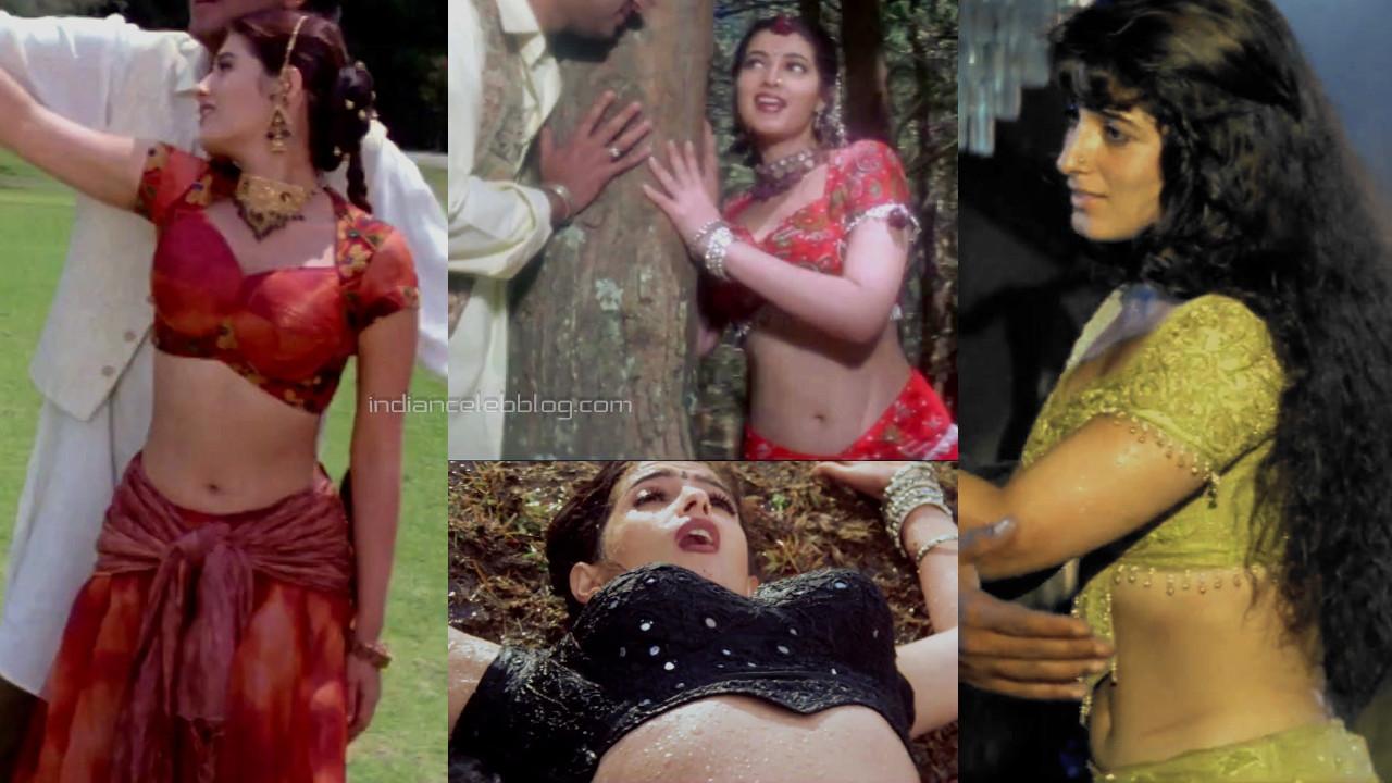Twinkle khanna bollywood sexy midriff show itihaas movie pics hd caps