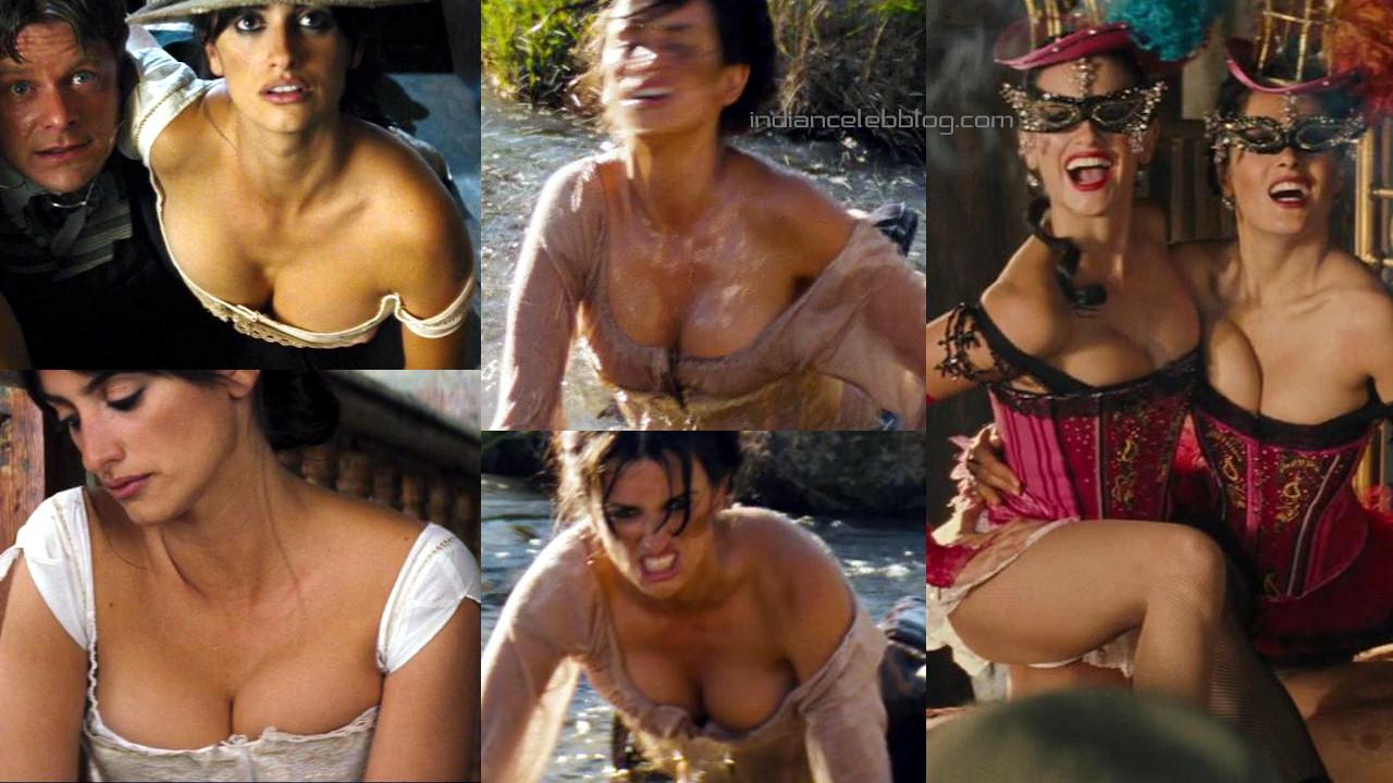Penelope cruz Bandidas hot lingerie cleavage photos hd screencaps