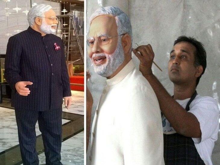 Mayur-Vakani-created-the-Statue-of-PM-Modi