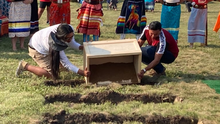 Rosebud ancestors buried in emotional ceremony