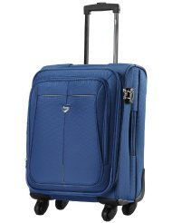 VIP Aqualite II Strolly Exp 4 wheel Fabric Aqua Blue Softsided Carry-On (STAQU65ABL) Small Luggage