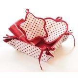 Blue Alcove Polka 3 Piece Kitchen Gift Set - Red
