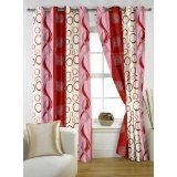 """Story@Home Polyester Door Curtain - 48""""x84"""", Maroon"""