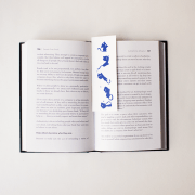 Cat series bookmark blue